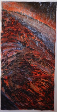 Bronze River Mixed media on Nepalese paper, 111 x 56cm