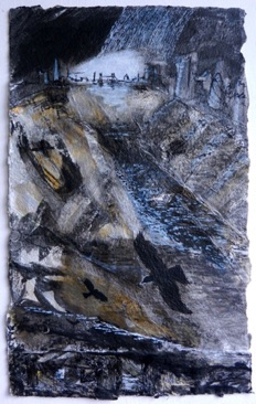 Crow Series Storm 1 Mixed media on Nepalese paper, 51 x 31cm
