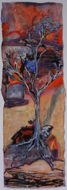 White Tree Acrylic on Paper, 36 x 26cm